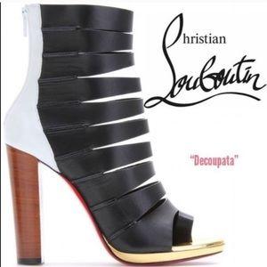 Christian Louboutin Decoupata Open Toe Ankle Boot